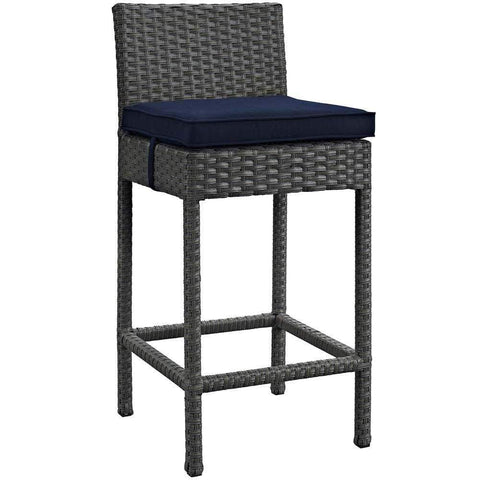 Canvas Navy Summon Outdoor Patio Sunbrella Bar Stool