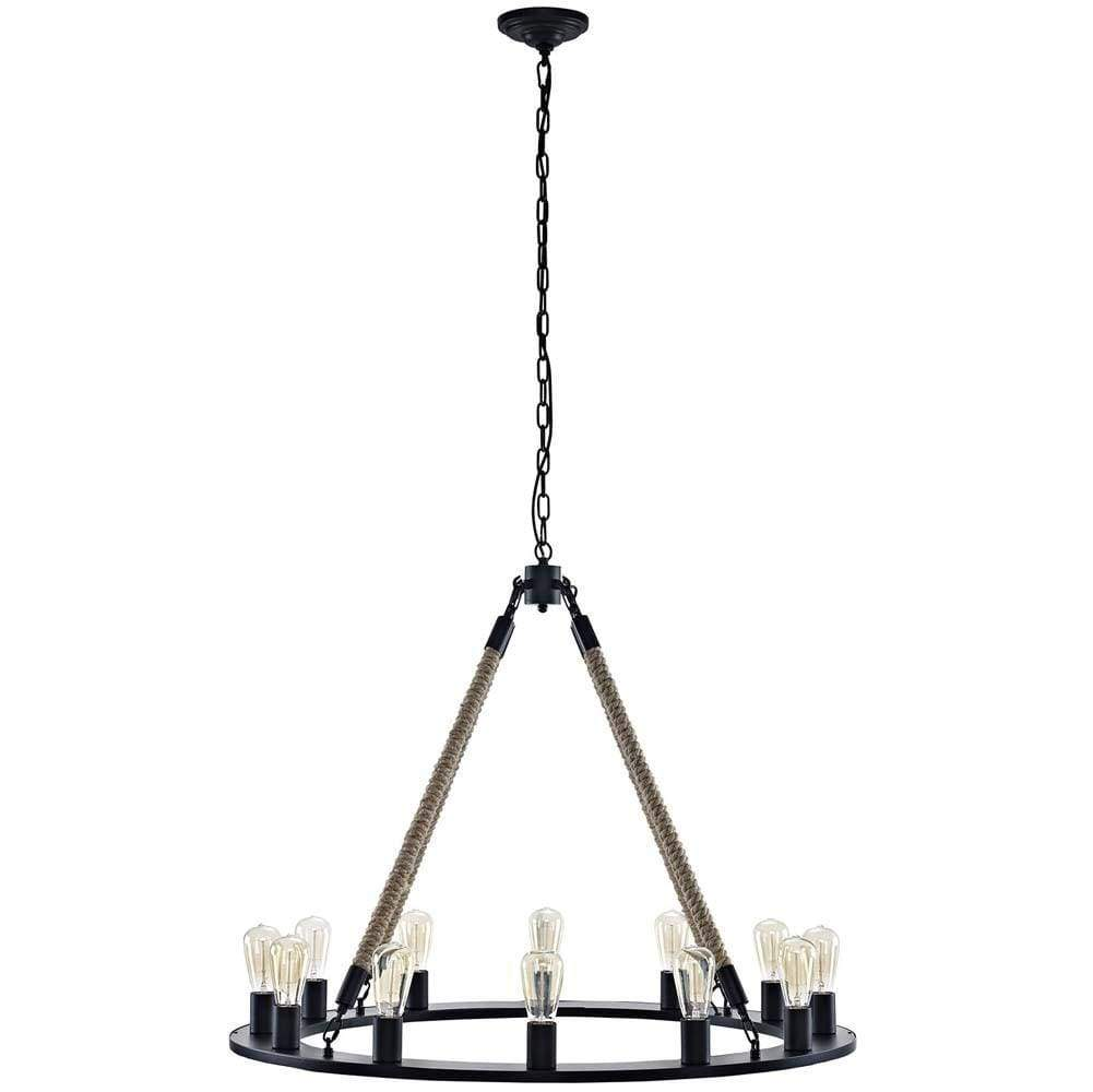 Brown Encircle Chandelier