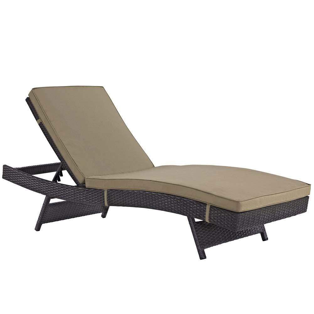 Mocha Convene Outdoor Patio Chaise
