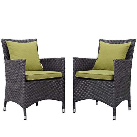 Peridot Convene 2 Piece Outdoor Patio Dining Set