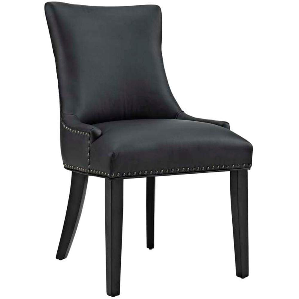 Marquis Faux Leather Dining Chair, Black