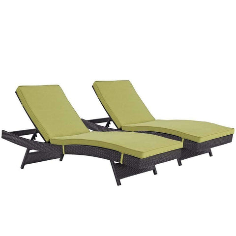 Peridot Convene Chaise Outdoor Patio Set of 2