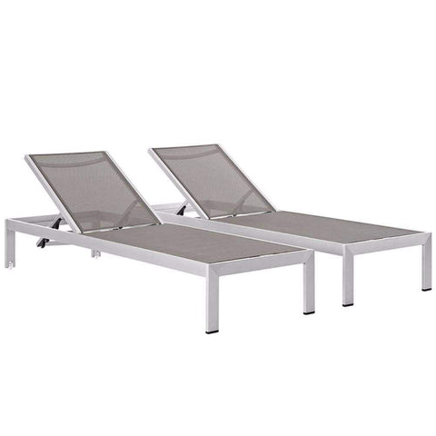 Gray White Junction 3 Piece Outdoor Patio Dining Set
