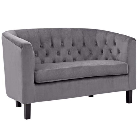I 8502BK Black Bonded Leather / Match Love Seat