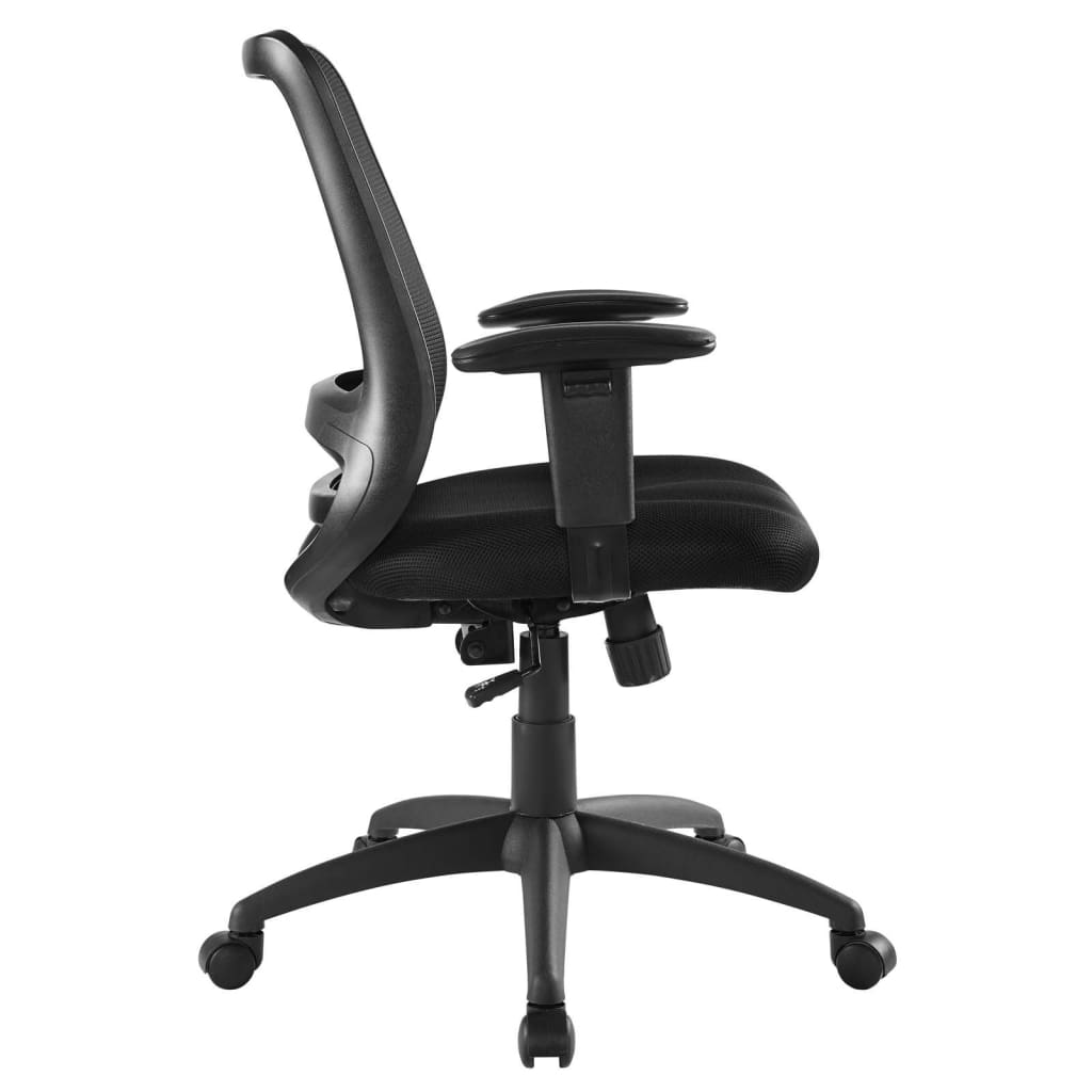 Forge Mesh Adjustable Swivel Office Chair, Black By Modway
