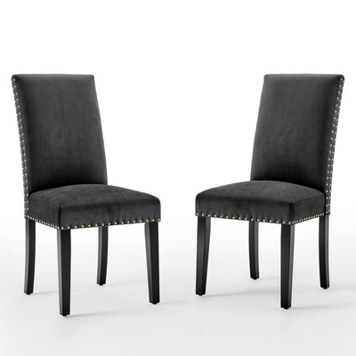 Parcel Performance Velvet Dining Side Chairs - Set of 2 - EEI-3779-CHA