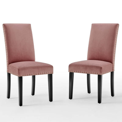 Parcel Performance Velvet Dining Side Chairs - Set of 2 - EEI-3779-DUS
