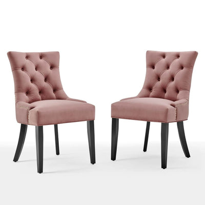Regent Tufted Performance Velvet Dining Side Chairs - Set of 2 - EEI-3780-DUS