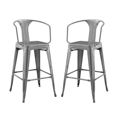 Promenade Bar Stool Set of 2 - EEI-3952-GME