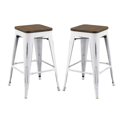 Promenade Counter Stool Set of 2 - EEI-3958-WHI
