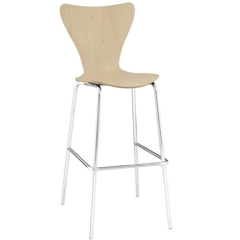 Natural Ernie Wood Bar Stool