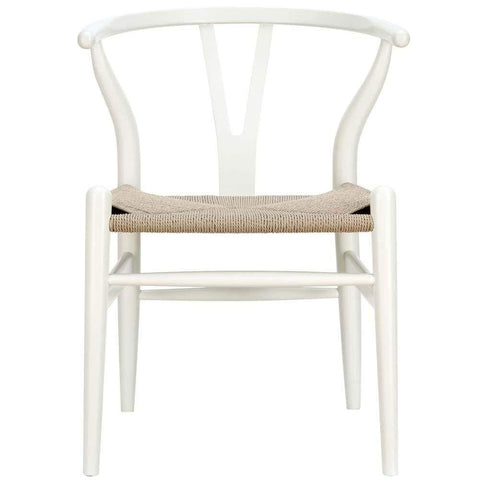 White Amish Dining Wood Armchair