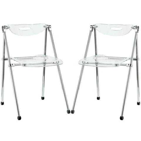 Clear Telescope Set of 2 Dining Chairs