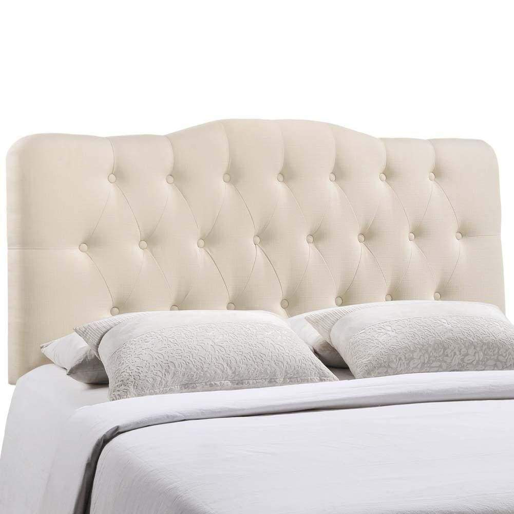 Ivory Annabel Queen Fabric Headboard