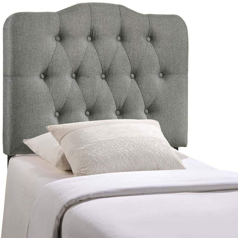 Gray Annabel Twin Fabric Headboard