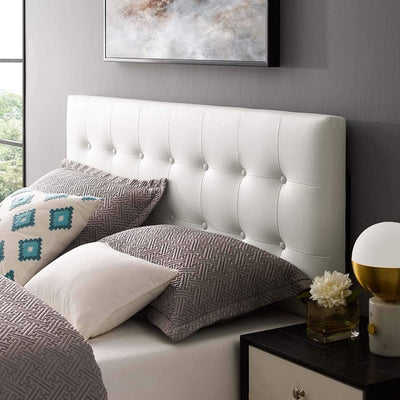 Emily Full Vinyl Headboard White