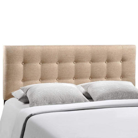 Ivory Emily King Fabric Headboard