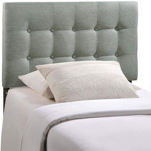Gray Emily Twin Fabric Headboard