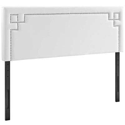 White Josie Full Vinyl Headboard