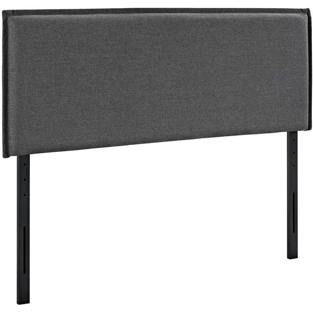 Gray Camille King Fabric Headboard
