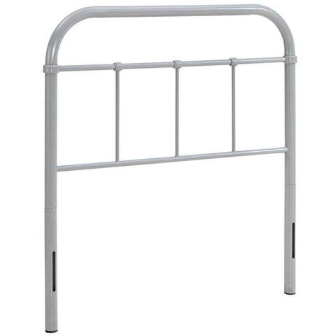Serena Twin Steel Headboard, Gray -Modway