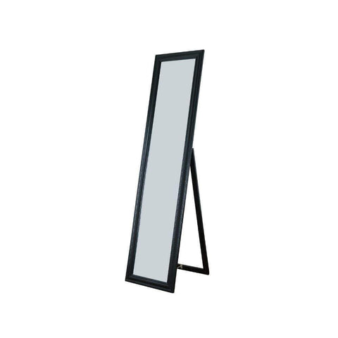 Elisabetta Full Length Standing Mirror with Decorative Design, Black