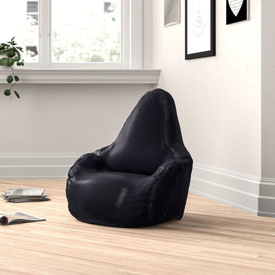 Adult Matte Vinyl Bean Bag Black MSG-BBA-BLKVINMA