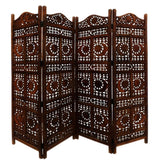 Carved Screen Sun And Moon, Wood - Room Divider