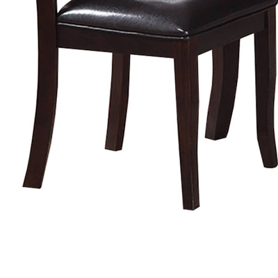 Retro Style Set Of Two Wooden Dining Chairs In Dark Brown PDX-F1388