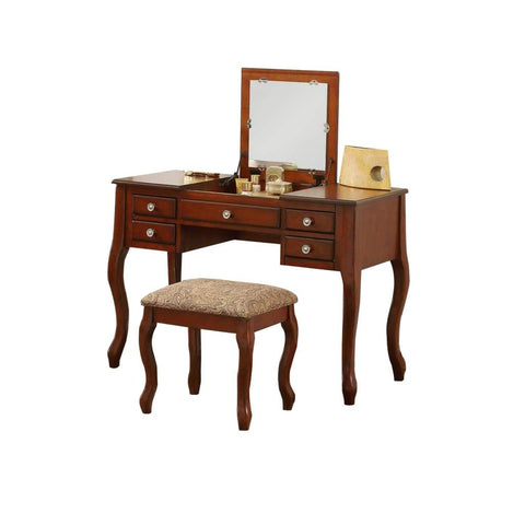 Ashland Traditional Style Vanity Table, Cherry