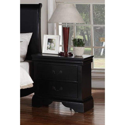 Attractive Pine Wood Night Stand,Black