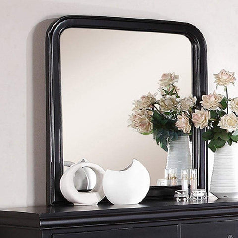 Floral Design Silver Metal Wall Mirror Leaf