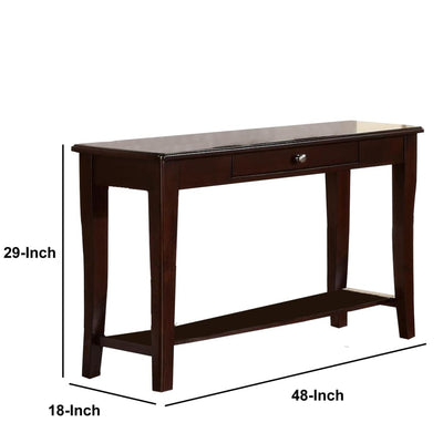 Wooden Console Table With One Drawers Brown PDX-F6278