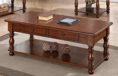Great Appeal Rubber Wood Coffee Table Brown PDX-F6327