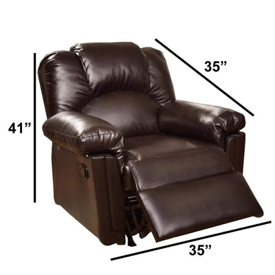 Bonded Leather Rocker/Recliner Brown PDX-F6676