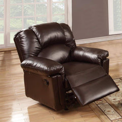 Bonded Leather Rocker/Recliner, Brown