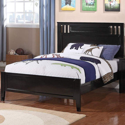 Charismatic Twin Bed Wooden Finish Black PDX-F9046T