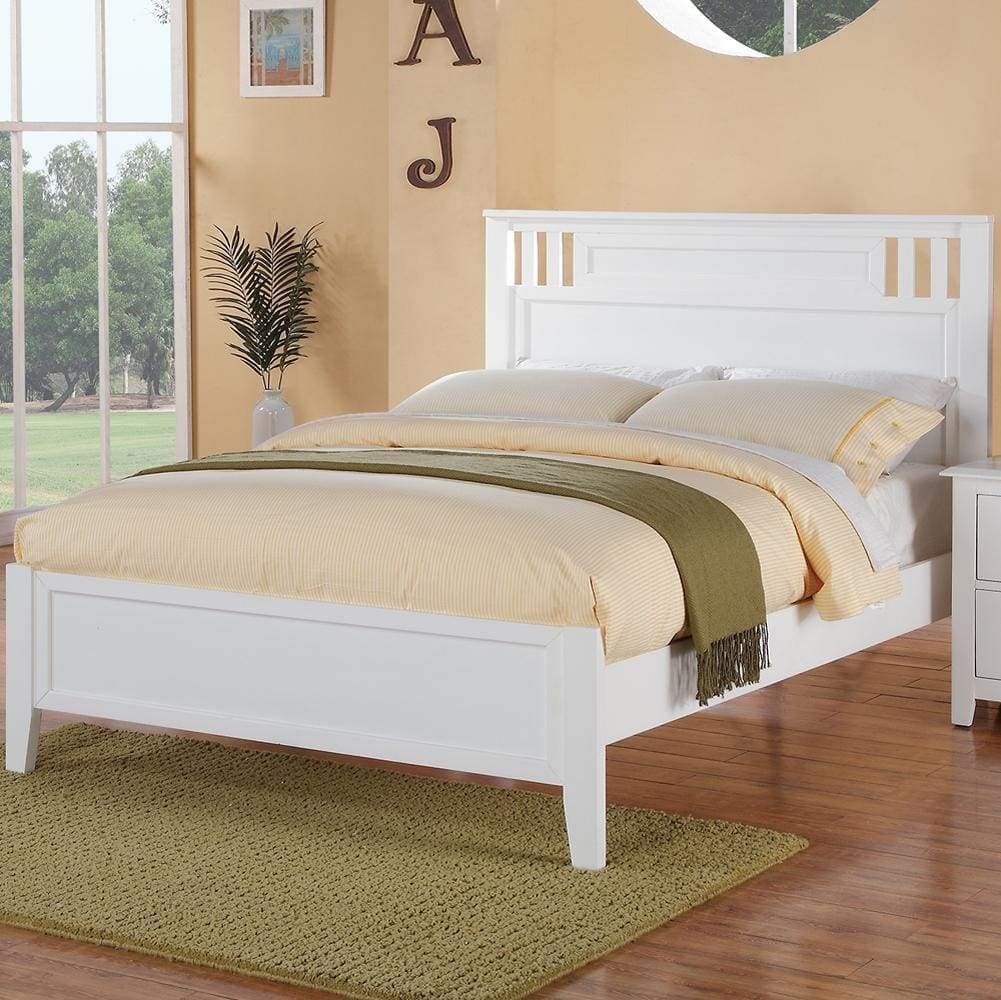 Fantastic Full Bed Wooden Finish , White