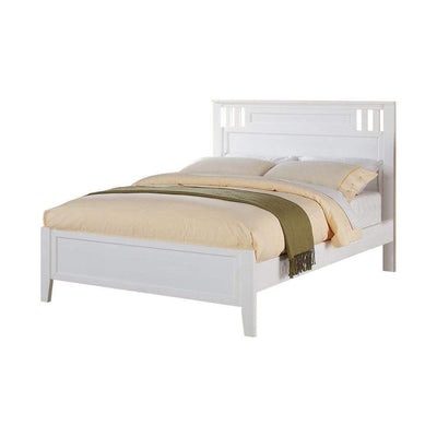 MarvellousTwin Bed Wooden Finish White PDX-F9123T