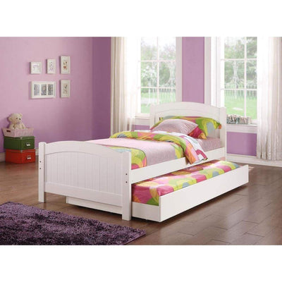 Twin Bed With Trundle Kids Bed White PDX-F9218