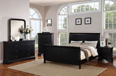 Gorgeous Queen Louis Phillippe Bed , Black
