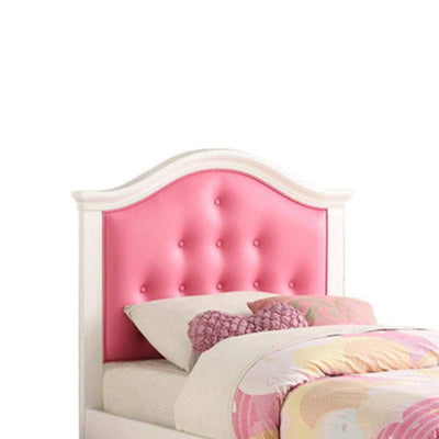 Cherub Twin Size Bed With Trundle In Pink And White By Poundex PDX-F9377