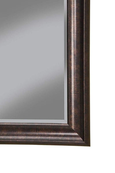 Polystyrene Framed Wall Mirror With Beveled Glass Oil Rubbed Bronze SDF-14217