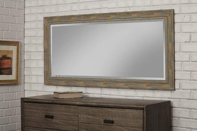 Farmhouse Style Full Length Leaner Mirror With Polystyrene Frame Blue SDF-18211
