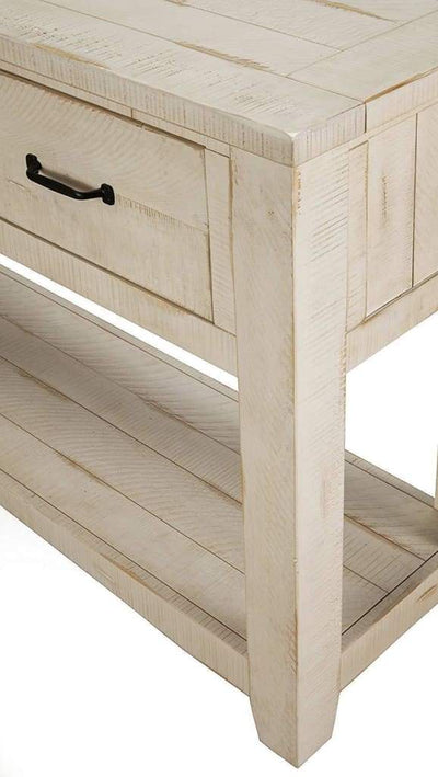 Wooden Console Table With Three Drawers Antique White SDF-890143