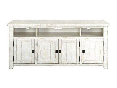 Wooden TV Stand With 3 Shelves and Cabinets White SDF-90926