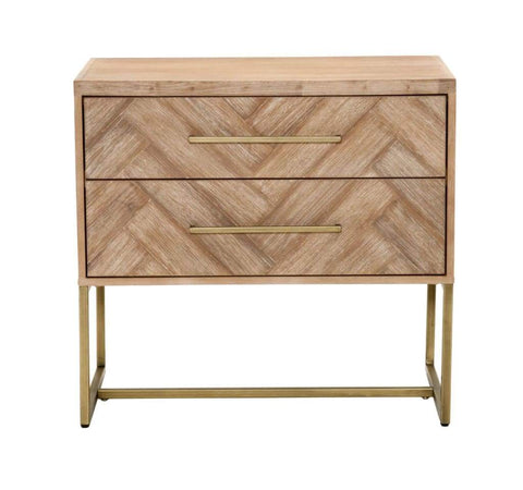 Contemporary Style 2 Tier End Table In Natural Finish By The Urban Port