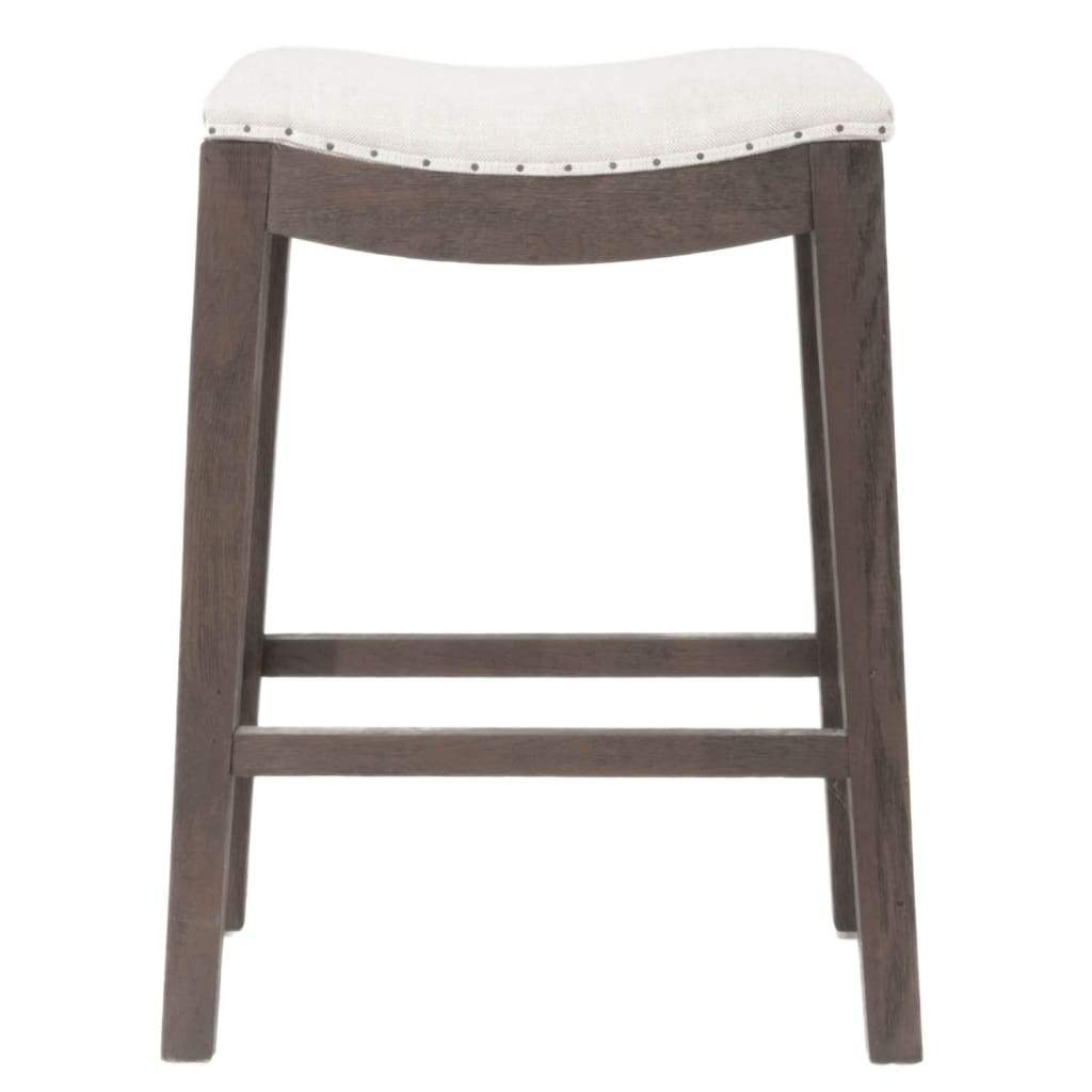 Elevated Upholstered Counter Stool, Rustic Java Brown
