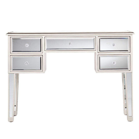 Single Drawer Mirrored Accent Cabinet, Silver & Clear By The Urban Port