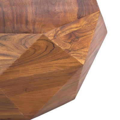 Diamond Shape Acacia Wood Coffee Table With Smooth Top Dark Brown UPT-196015